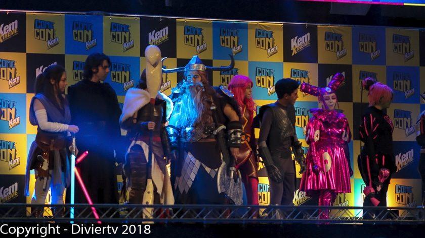 Cosplayer en la Comic Con Chile 2018